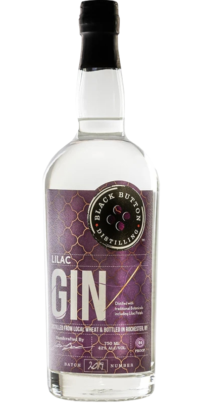 Black Button lilac gin